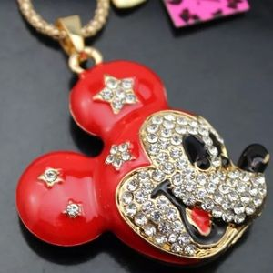 Mickey rhinestone necklace